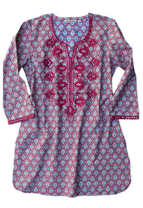 IVY Embroidered Printed Pure Cotton Tunic