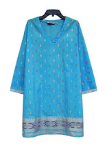 KRITIgold Block Printed Pure Cotton Tunic Top Kurti
