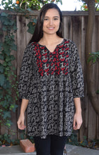 Megha Pure Cotton Printed and Hand Embroidered Tunic