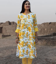 Nilsa Printed Pure Soft Cotton Long Tunic Kurta Dress: Made to Order/Customizable