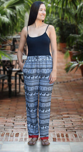 Zoha Printed Crepe Pajama Pants with Pockets