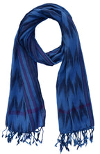Handloom Woven Pure Cotton Ikat Scarves