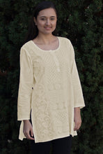 STUTI Pure Cotton All Over Hand Embroidered Tunic: : Made to Order/Customizable