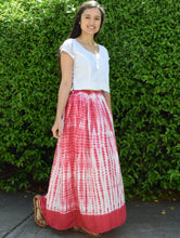 Viscose rayon Crinkled Tie n Dye Skirt
