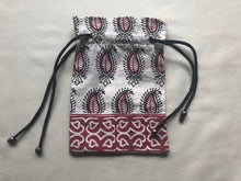 Printed cotton pouch with string
