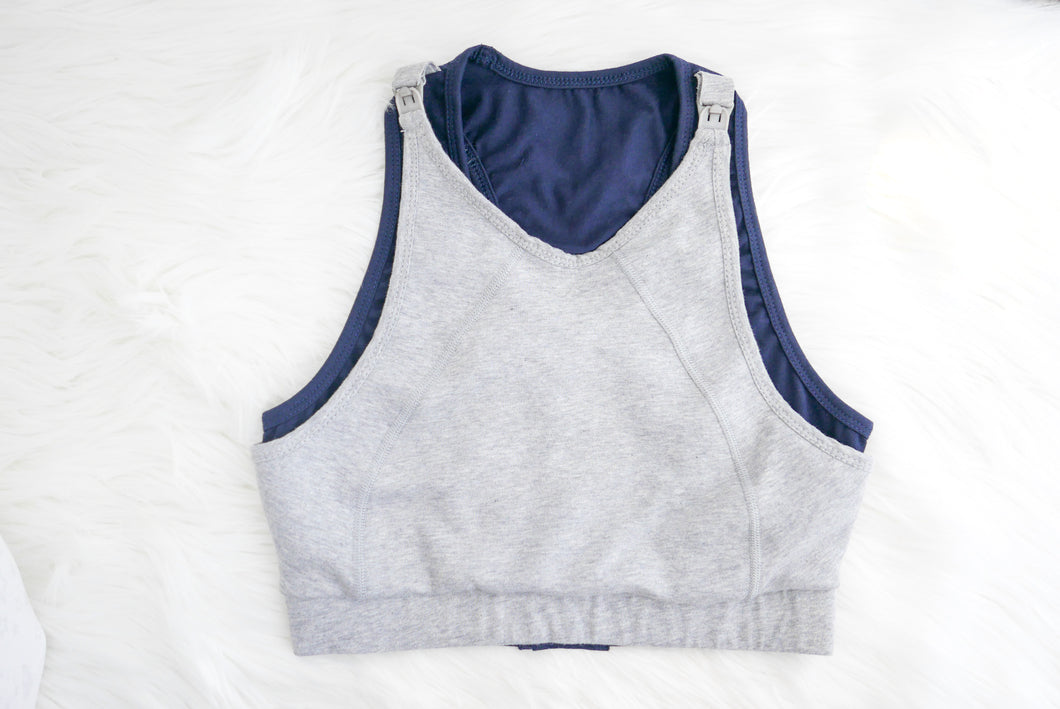 Grey Maternity Sports Bra