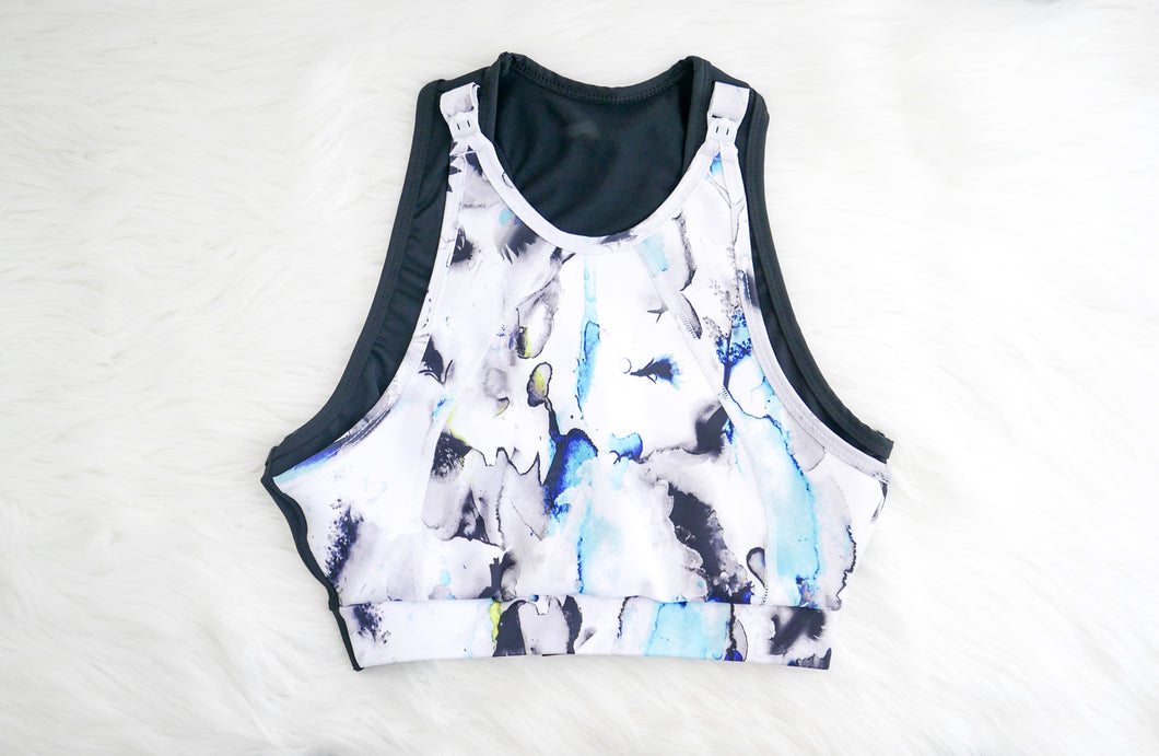 Watercolour Maternity Sports Bra