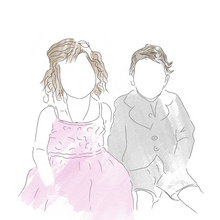 Simple Personalised Family Illustrations