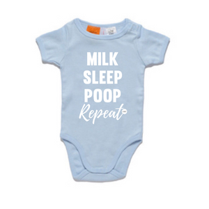 Milk Sleep Poop Repeat Romper