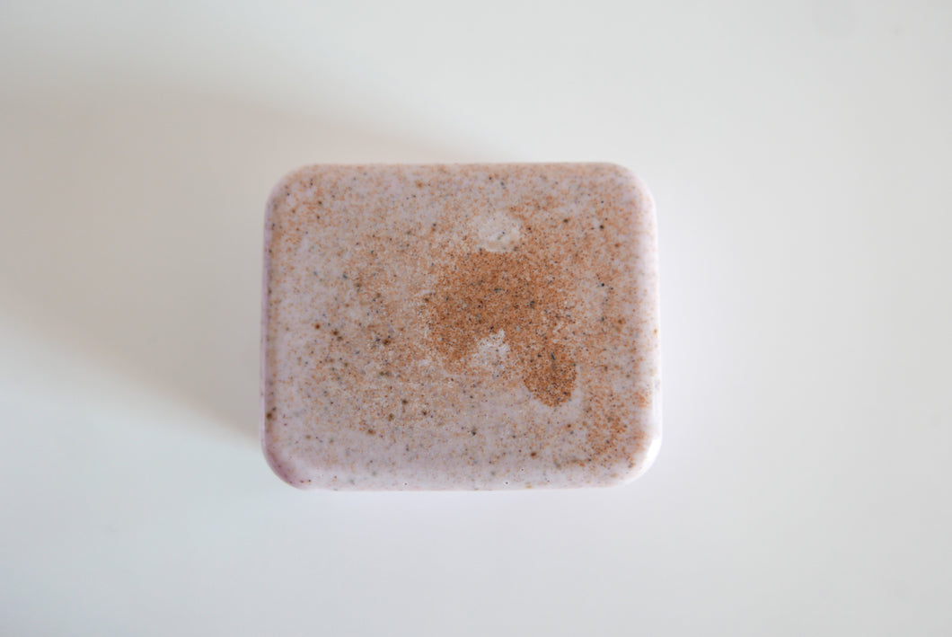 Lavender and Crushed Walnut Scrub Vegan Soap Large