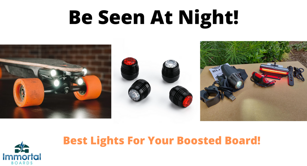 The Top 3 Best Lights For Boosted Boards. Night Riding.