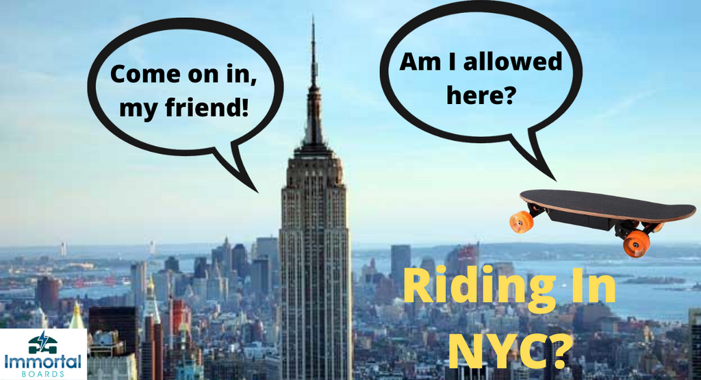 Electric Skateboards Laws NYC – Can I Ride In The City?