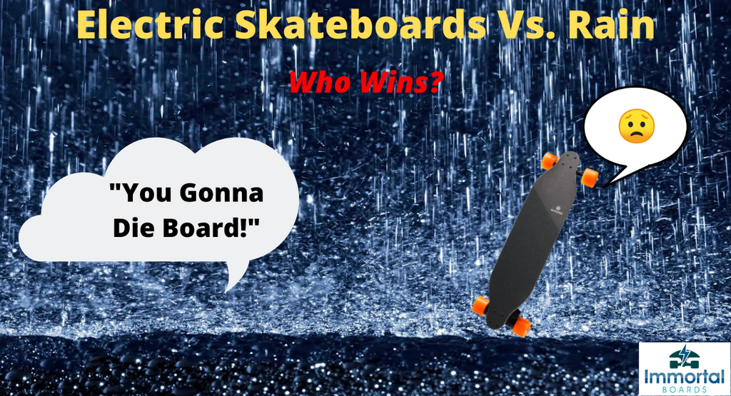 Can You Ride An Electric Skateboard In The Rain? Water Vs. E-boards.