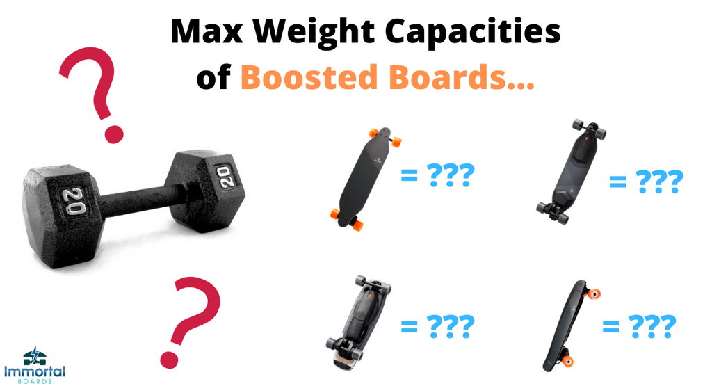 What Are The Weight Capacities On Boosted Boards? All Models.