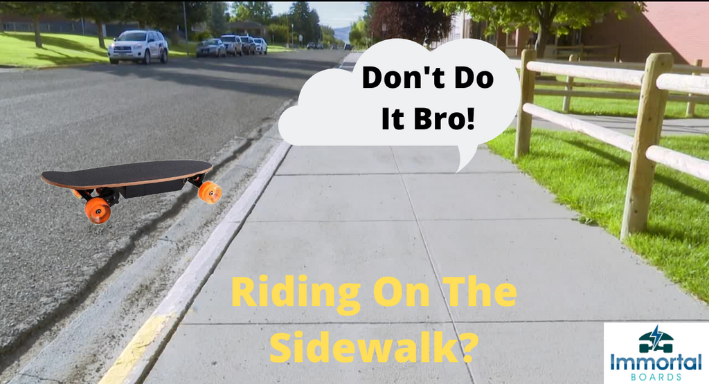 Can You Ride An Electric Skateboard On The Sidewalk? Rules To Follow.