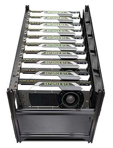 Hydra IV 10 GPU Frame Rack Mining Rig Case, Dual PSU Ready - Motherboard,  BetaNET Cryptocurrency Solutions