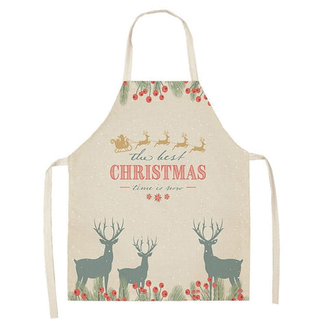 Image of Lovely Deer Christmas Apron