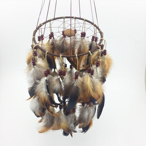 Image of Feather pearl Dreamcatcher-Be Mindfulness