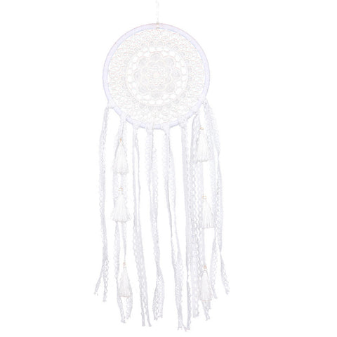 Image of White Lace Flower Dreamcatcher-Be Mindfulness
