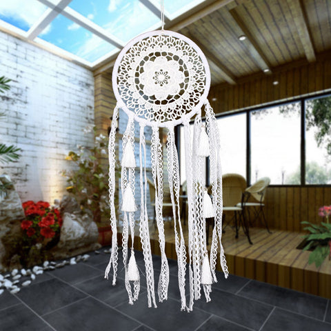 White Lace Flower Dreamcatcher-Be Mindfulness