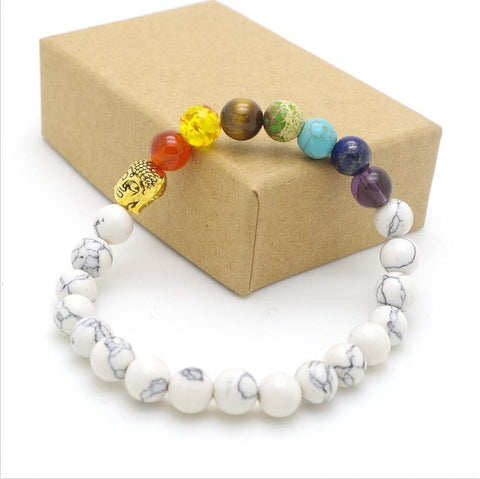 Image of Rainbow Unisex 7 Chakra Bracelet-Be Mindfulness