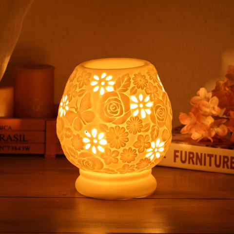 Image of Electric Lamp Oil Burner-Be Mindfulness