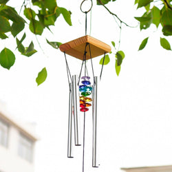 Wind Chimes with Rainbow Chakra Sun Catchers
