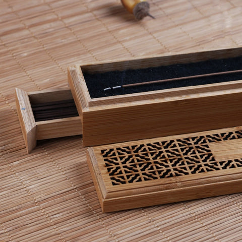 Bamboo Box Incense Burner-Be Mindfulness