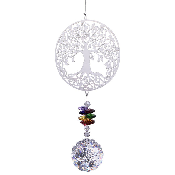 Life Tree Crystal Rainbow Sun catcher