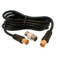 TV Flylead Lead with Adaptor 1.5m