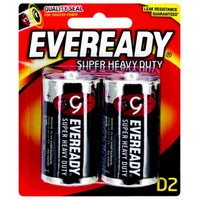 Battery Eveready Super Heavy Duty D Pk 2