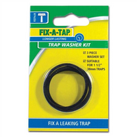Washers Trap Inlet & Outlet 38mm PK3