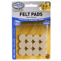 Felt Pads - Scarboro Hardware 19mm Round 24 pieces