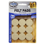 Felt Pads Adhesive 27mm Round Beige 18pieces