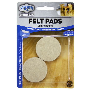 Felt Pads 46mm Round  4 Piece