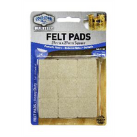 Self Adhesive Felt Pads 27mm Square 18piece