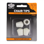 White Rubber Chair Tips