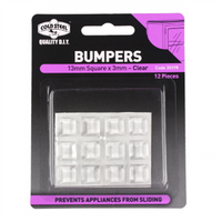 Vinyl Bumpers Clear Self Adhesive 13mm