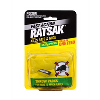 Ratsak Fast Acting Throw Pack 5x20g