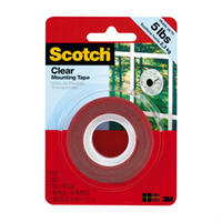 Scotch Clear Mounting Tape 25.4mm x 1.52m