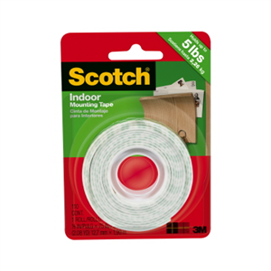 Scotch Indoor Mounting Tape 12mm x 1.9m