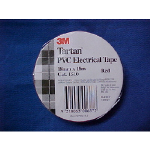 3M Eletcrical Tape PVC 18mm x 18m Red