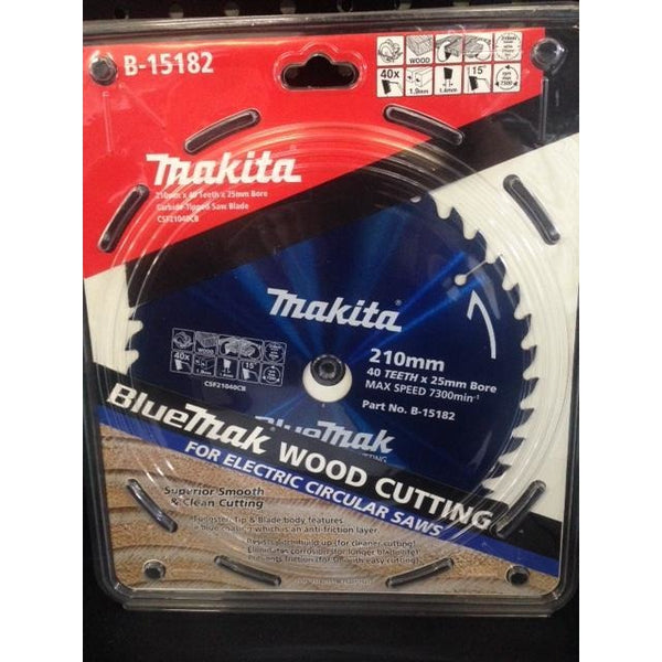 Makita Blade BlueMak Saw 210x25x40T