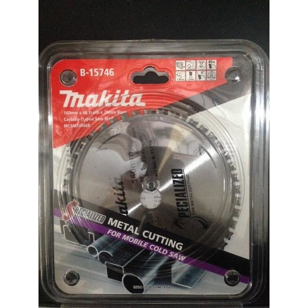Makita Blade Metal Cold Cut 160x20x46T
