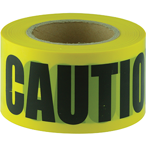 Tape Barricade CAUTION black on yellow 100m