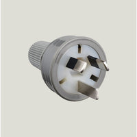 HPM Rear Entry Plug 3 Pin Grey 10amp