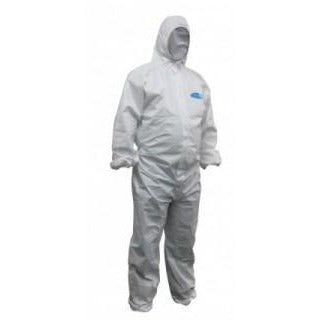 Koolguard Lam Disp Coveralls - White