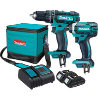 Makita 18V 1.5Ah Li-ion 2pce Combo Kit