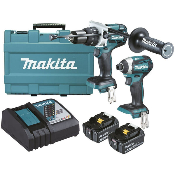 Makita 18V 5.0Ah Brushless Li-ion 2pce Combo Kit