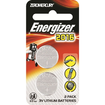 Battery Energizer Lithium Coin 3V 2016 Pk 2